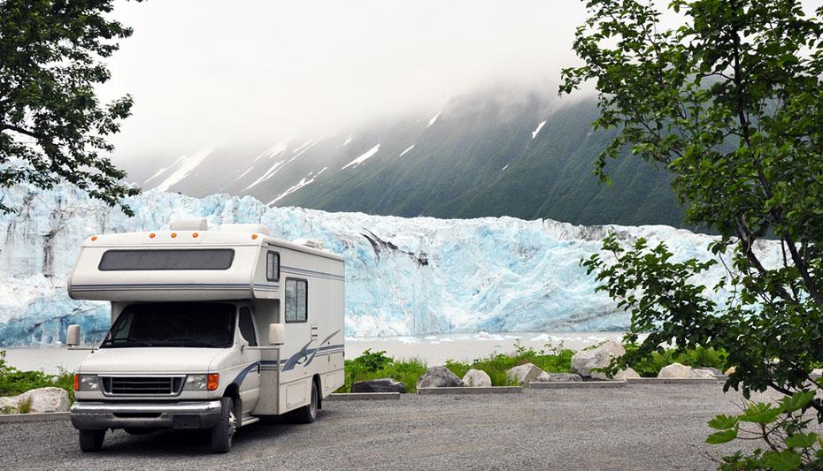 Alaska Camper Route Gletscher