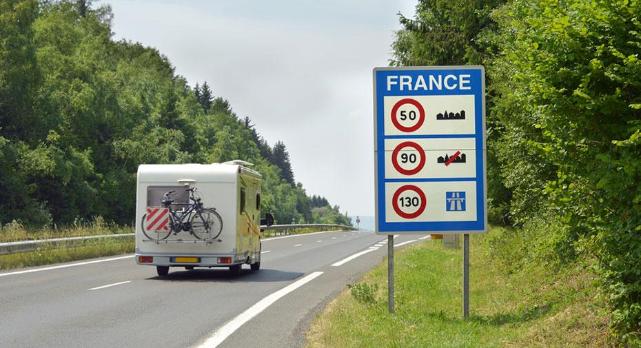 Camper Frankreich Verbotsschild