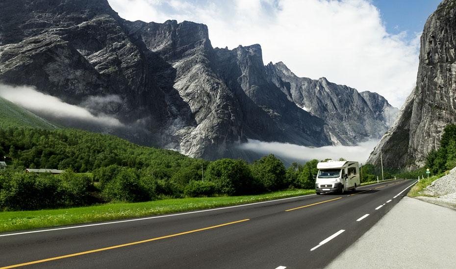 Norwegen Camper Routen Berge