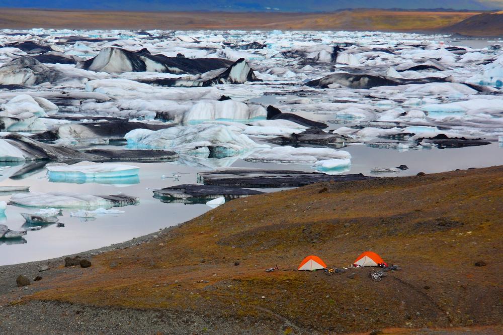 Island Camper Wildnis Meer Gletscher